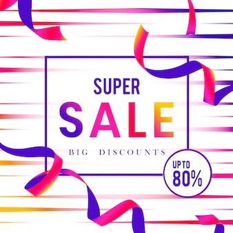 Супер продажа 80% от знака вектора