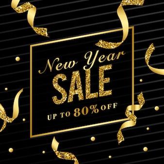 Новый год продажи 80% от знака вектор