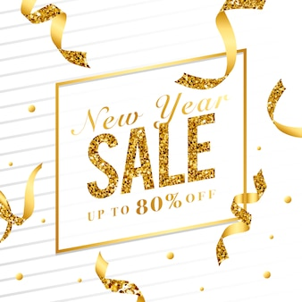 新年の販売記号ベクトルの80%オフ
