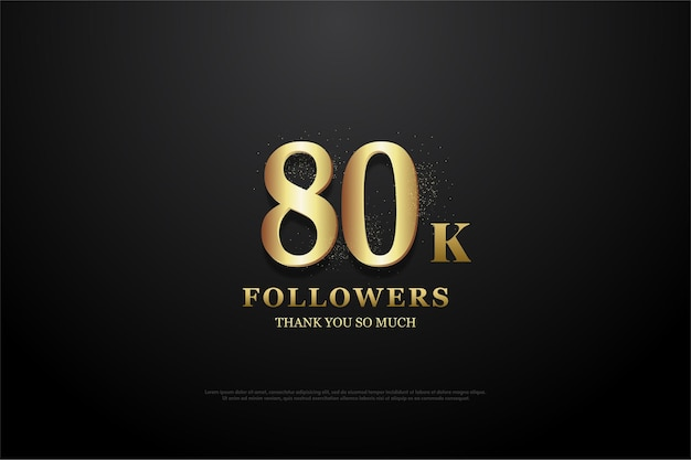 80k followers with sketch figures