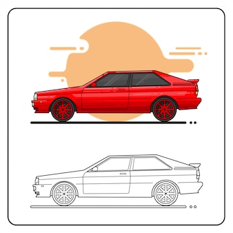 80s cars easy editable