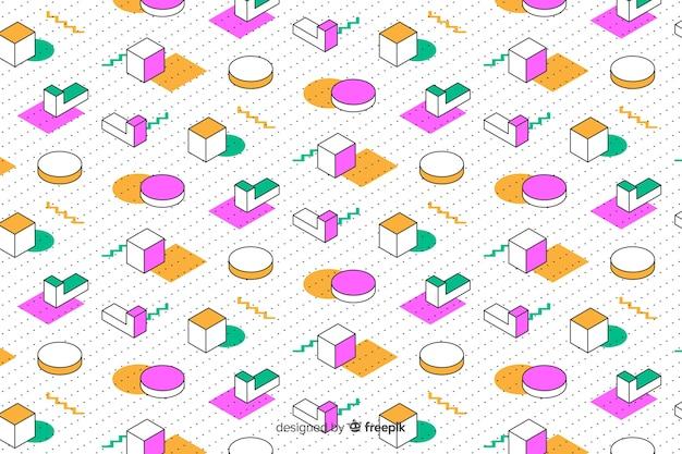 80s geometric background design with retro style