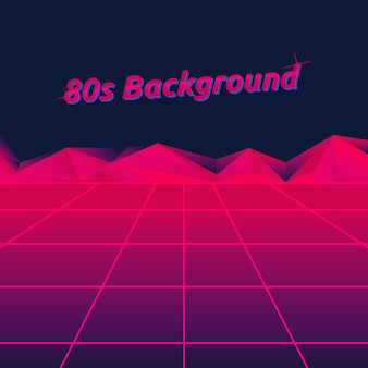 80s neon virtual word techno background