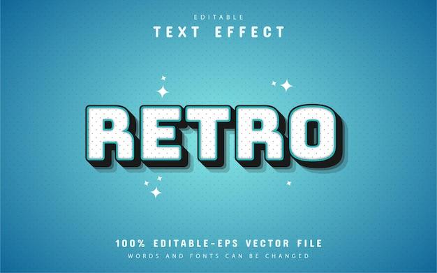 80年代のレトロな青いテキスト効果