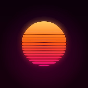 80s retro sunset