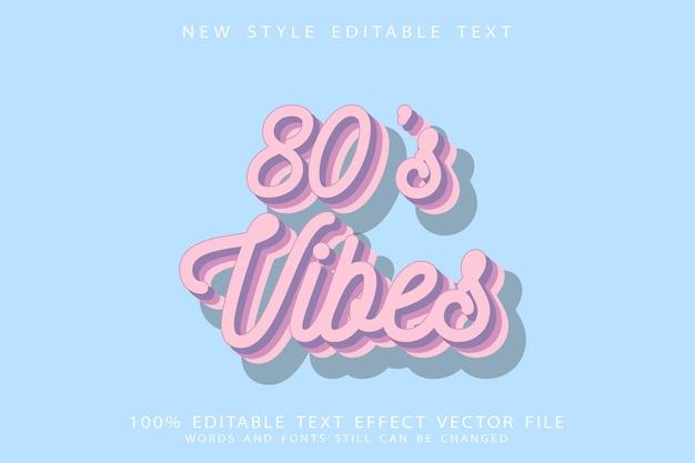 Редактируемый текстовый эффект 80-х годов с тиснением в винтажном стиле