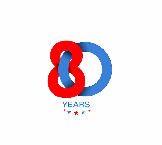 Дизайн празднования годовщины 80-летия.