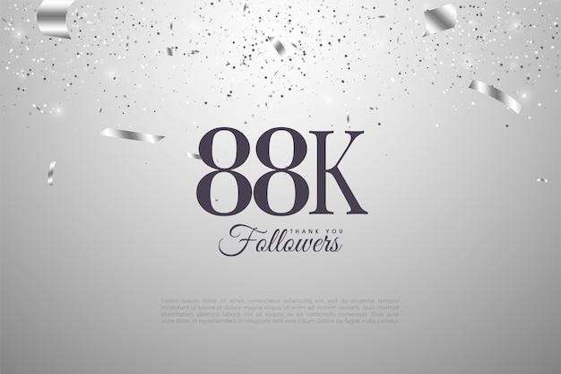 88k подписчиков с дизайном плоских номеров