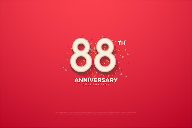 88th anniversary with embossed 3d numbers edition