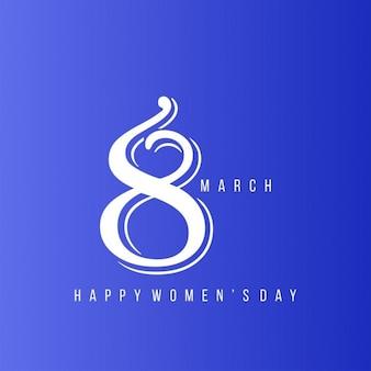 Счастливый день с рынк творческого 8 марта на синем фоне