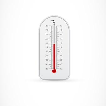 Открытый термометр, показывающий 8 стоградусных