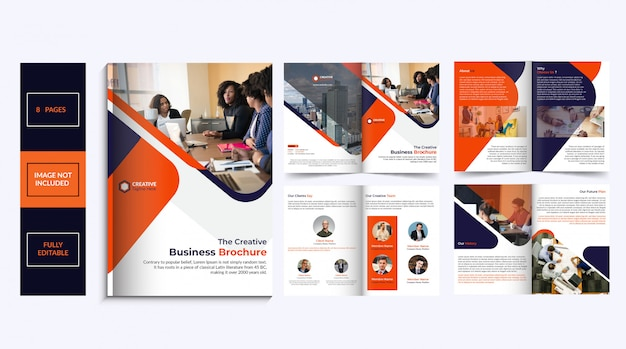 8ページのパンフレットのデザイン
