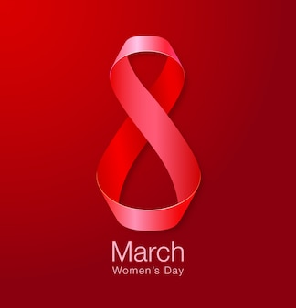 8 марта - женский день бумаги дизайн шаблона поздравительной открытки.