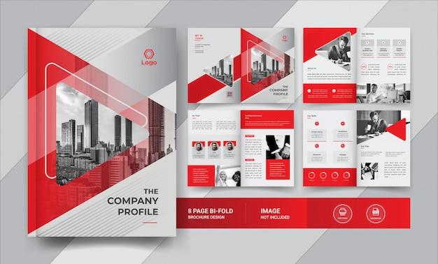 8-страничный дизайн бизнес брошюры