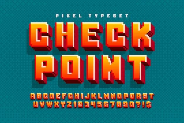 ロゴデザインの8ビットカラフルなアルファベット