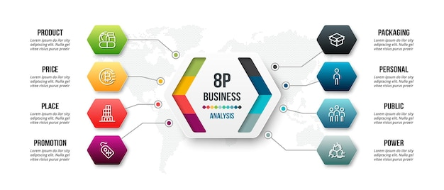 8p analysis business or marketing  infographic template