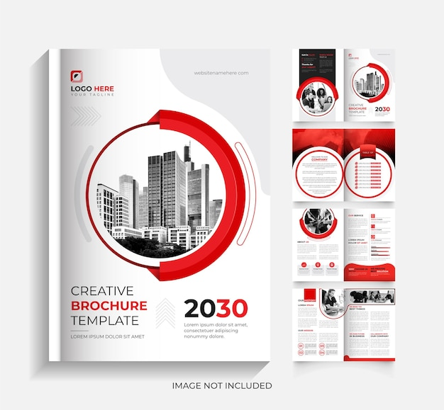 8page corporate business brochure template