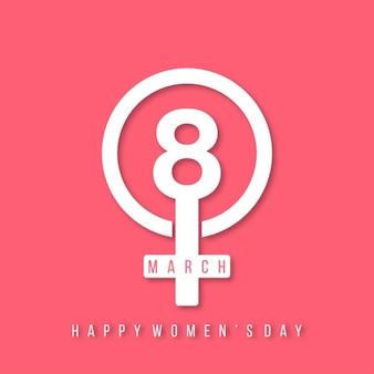 3 월 8 일 행복한 여성의 날 레터링
