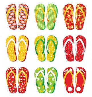 9 bright flip-flops