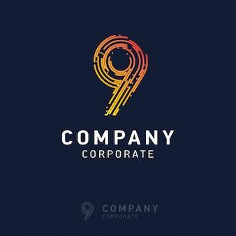 9 company logo design vector