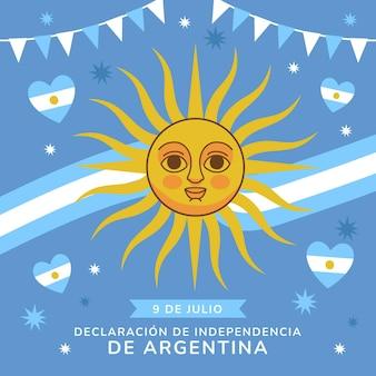9 de julio-declaracion de independencia de laargentinaイラスト