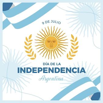 9 de julio - illustrazione della dichiarazione di indipendenza dell'argentina