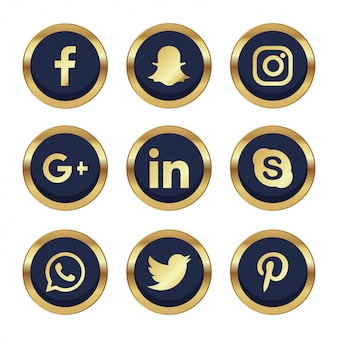 9 social networking with golden details