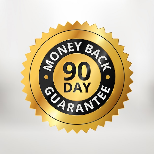 90 day money back guarantee label
