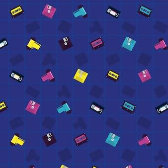 90年代のヴィンテージパターンの背景