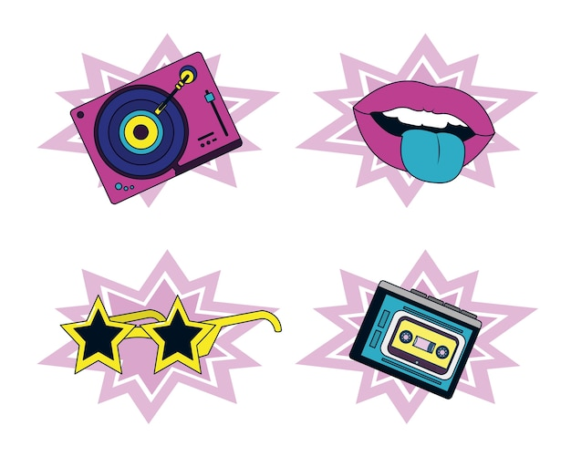 Набор элементов и технологий 90-х годов