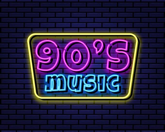 90年代の音楽ネオンサイン