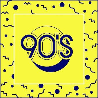 90s decade label retro