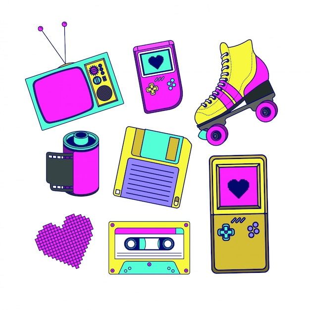90s decade set icons