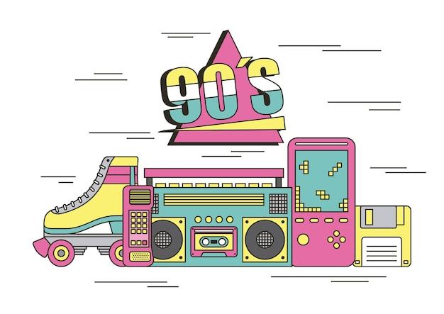 90年代のデバイスとおもちゃ