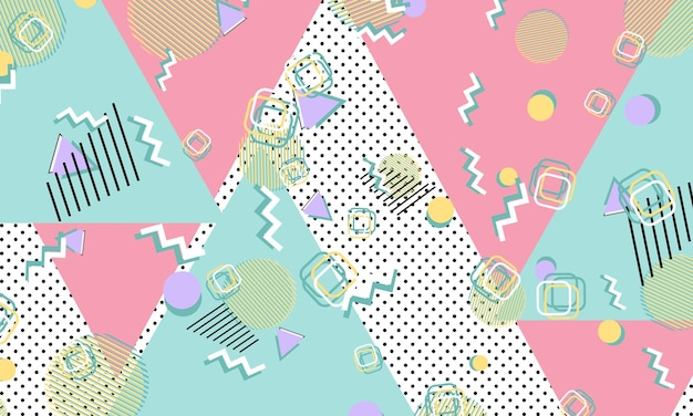 90s pattern. geometric shapes. hipster style