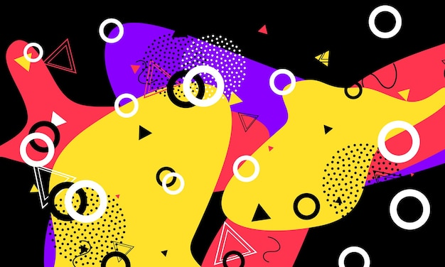 90s pattern. liquid elements. abstract contemporary composition. black graphic design.