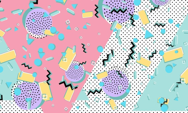 90s pattern. memphis style. abstract retro background. vector illustration. hipster style 80s-90s.