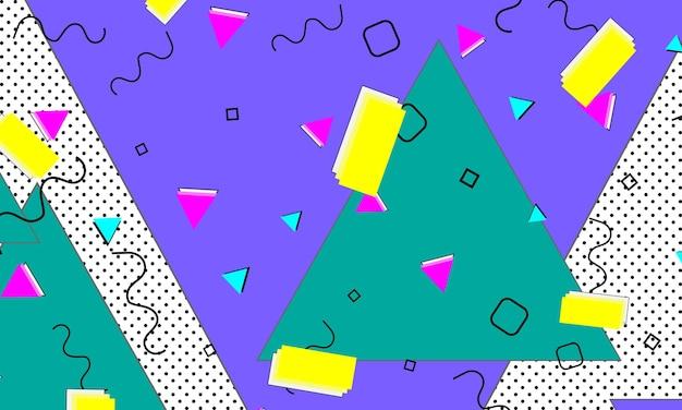 Шаблон 90-х. цвет фона поп-арт. хипстерский стиль 80-90-х годов. абстрактный красочный фон в стиле фанк.