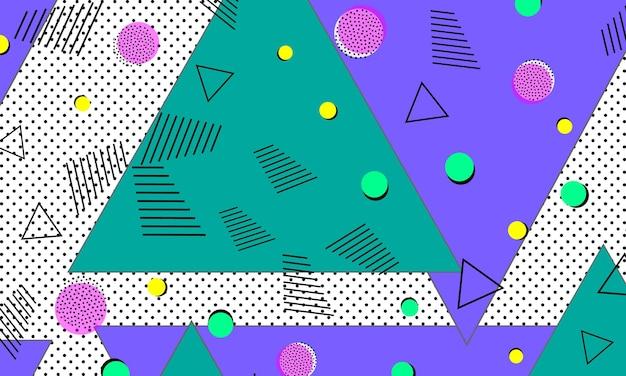 90s pattern. pop art color background.