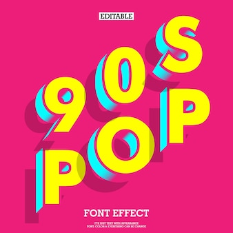 90s style font effect with simple modern look