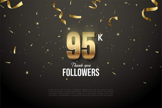 95k followers with numbers drowned out by the gold ribbon