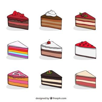 9つのケーキのコレクション