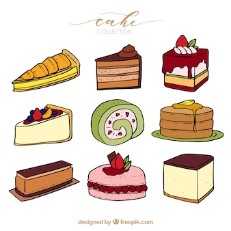 9つのおいしいケーキのコレクション