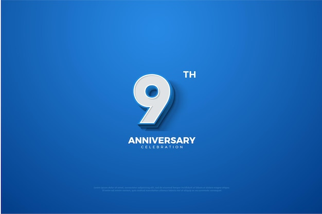 9th anniversary with the resulting 3dimensional numbers.