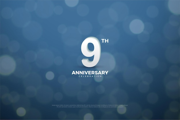 9th anniversary with smooth number and circle effects.