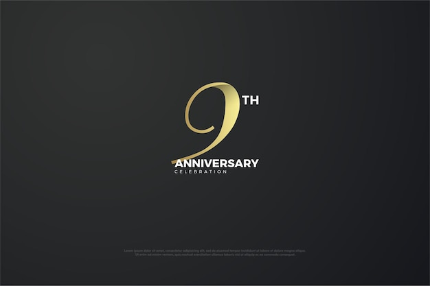 9th anniversary with a unique number.