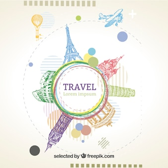 Эскизные шаблон путешествия