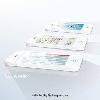 ホワイト携帯電話