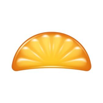 オレンジスライスゼリーキャンディアイコン。