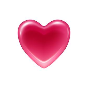 ピンクのハートゼリーキャンディアイコン。